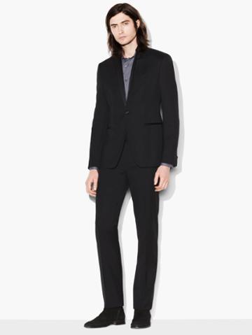 John Varvatos Tuxedo Jacket Black Size: 44 Sh