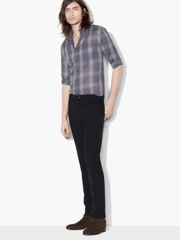 John Varvatos Roll Sleeve Plaid Shirt