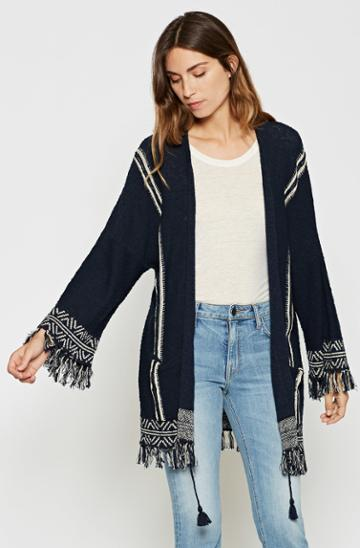 Joie Ayana Fringe Sweater