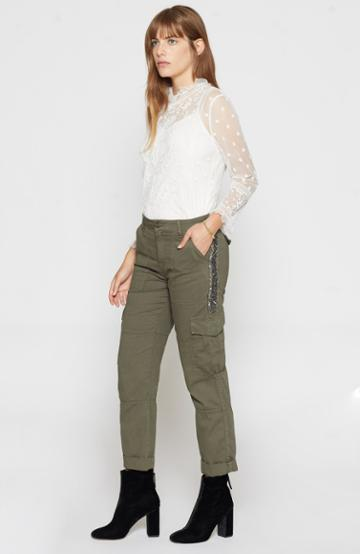 Joie Embellished Cargo Pants