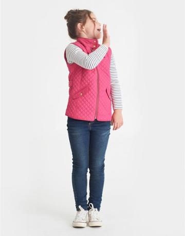 Joules Clothing Us Joules Jilly Quilted Gilet - Fuschia Pink