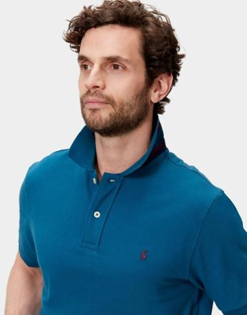 Joules Clothing Us Joules Woody Classic Fit Polo Shirt - Dark Teal