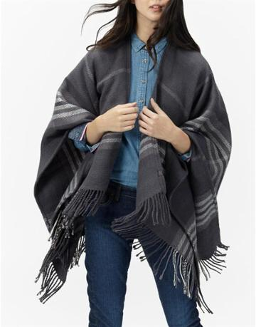 Joules Clothing Us Joules Innis Classic Wrap Scarf - Black Check
