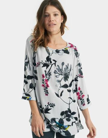 Joules Clothing Us Joules Tait Woven Top - Silver Birdberry