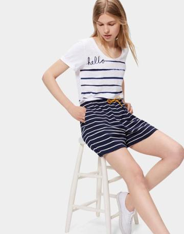 Joules Clothing Us Joules Elle Shorts - Navy Stripe
