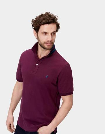 Joules Clothing Us Joules Woody Classic Fit Polo Shirt - Dark Purple