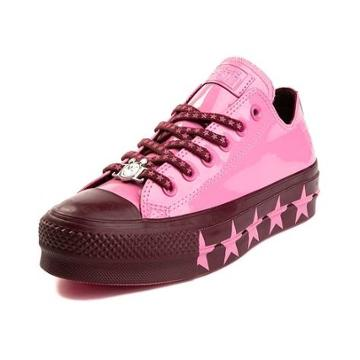Womens Converse X Miley Cyrus Chuck Taylor All Star Lo Patent Platform Sneaker