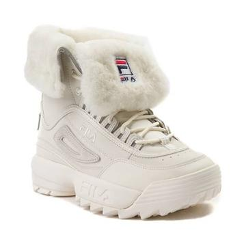 Womens Fila Disruptor Shearling Athletic Shoe
