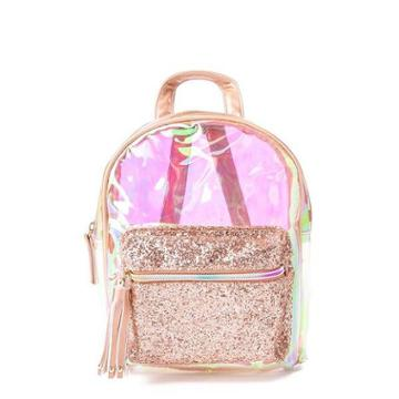 Clear Sparkle Mini Backpack