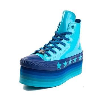 Womens Converse X Miley Cyrus Chuck Taylor All Star Hi Patent Platform Sneaker