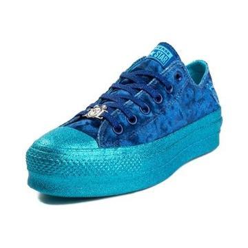 Womens Converse X Miley Cyrus Chuck Taylor All Star Lo Velvet Platform Sneaker