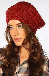 Coal:the Addie Beanie In Dark Red, Hats For Women