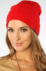 Brixton:the Florence Beanie In Dark Red, Hats For Women