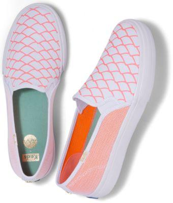 Keds X Alaina Marie Double Decker Mesh Waves Coral, Size 5m Women Inchess Shoes