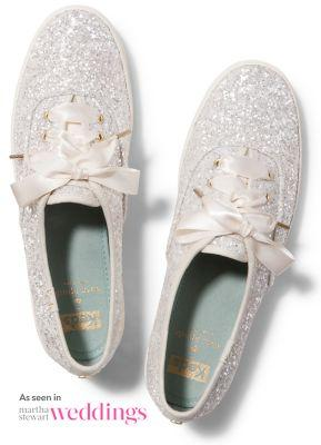 Keds X Kate Spade New York Champion Glitter Cream Glitter, Size 11m Women Inchess Shoes