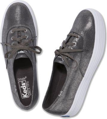 Keds Triple Metallic Gunmetal, Size 5m Women Inchess Shoes
