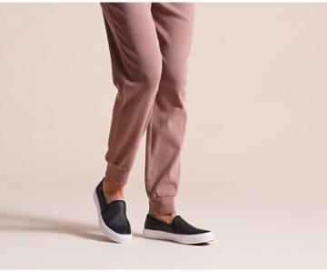 Keds Double Decker Leather Black, Size 7.5m Women Inchess Shoes