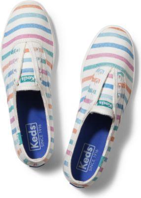 Keds Chillax Breton Stripe Cream Multi, Size 5m Women Inchess Shoes