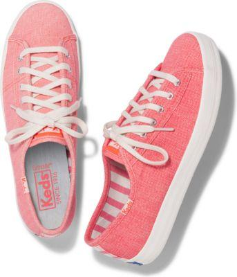Keds Kickstart Mini Brights Coral, Size 5m Women Inchess Shoes