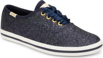 Keds X Kate Spade New York Champion Glitter Sneaker Navy, Size M Keds Shoes