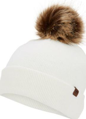 Keds Watch Cap W/ Faux Fur Pom Egret, Size One Size Women Inchess Shoes