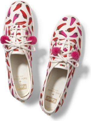 Keds X Kate Spade New York Champion Red Chili Peppers, Size 5m Women Inchess Shoes