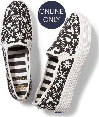 Keds X Kate Spade New York Triple Decker White Otomi, Size 5m Women Inchess Shoes
