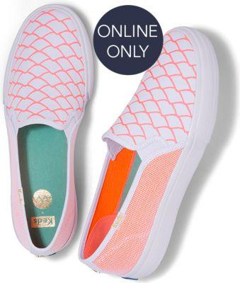Keds X Alaina Marie Double Decker Mesh Waves Coral, Size 5.5m Women Inchess Shoes