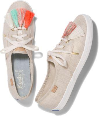 Keds Champion Tassel Natural Gold, Size 5m Women Inchess Shoes