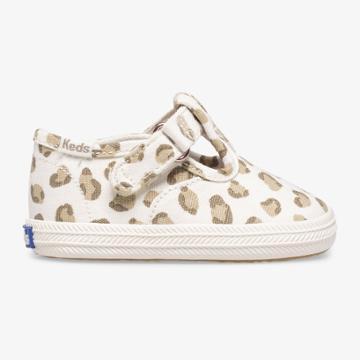 Keds Champion Leopard Toe Cap T-strap Leopard, Size 1m Keds Shoes