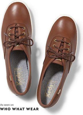 Keds Champion Leather Cognac, Size 5.5m Women Inchess Shoes
