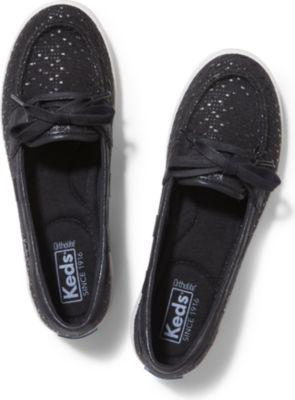Keds Glimmer Fall. Black Woven, Size 5m Women Inchess Shoes