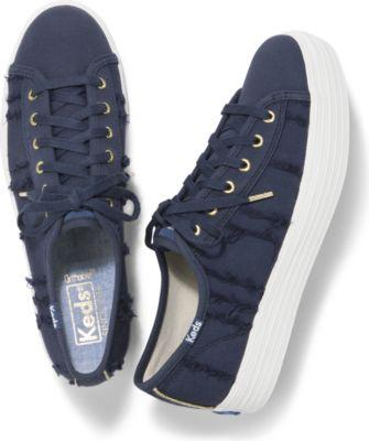 Keds Triple Kick Eyelash Canvas Indigo, Size 5.5m Women Inchess Shoes