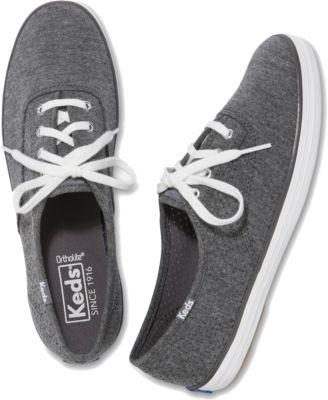 Keds Champion Perf Jersey Charcoal, Size 5m Women Inchess Shoes