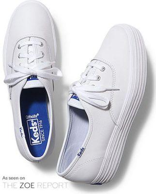 Keds Triple Leather White, Size 5.5m Women Inchess Shoes