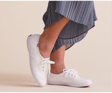 Keds Champion Feat. Organic Cotton White, Size 7m Women Inchess Shoes