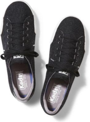 Keds Lex Wool Black, Size 5m Women Inchess Shoes