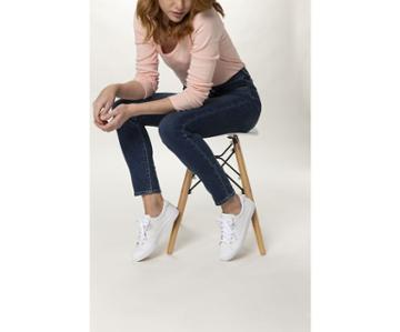Keds Crew Kick 75 Leather White, Size 7.5m Women Inchess Shoes
