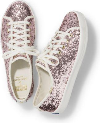 Keds X Kate Spade New York Kickstart Glitter Rose Dew Pink, Size 5m Women Inchess Shoes