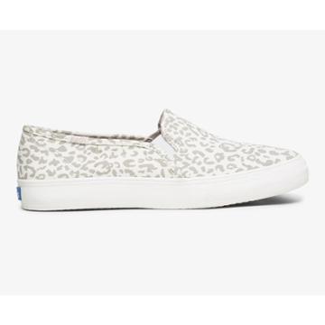 Keds Double Decker Animal Snow Leopard, Size 6.5w Women Inchess Shoes
