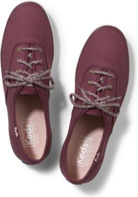 Keds Champion Sweater Lace Burgundy, Size 5m Women Inchess Shoes