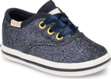 Keds X Kate Spade New York Champion Glitter Crib Sneaker Navy, Size M Keds Shoes
