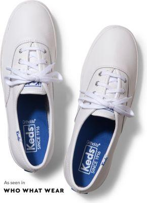 Keds Champion Originals Leather White, Size 5xw Women Inchess Shoes