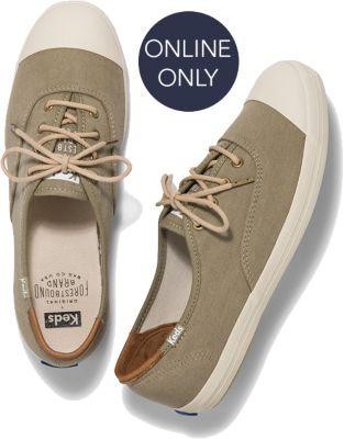 Keds X Forestbound Champion Olive, Size 5m Women Inchess Shoes