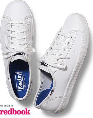 Keds Kickstart Patent White, Size 5.5m Women Inchess Shoes