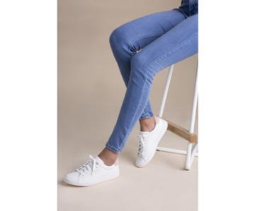 Keds Ace Leather White Blush, Size 7m Women Inchess Shoes