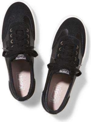 Keds Tournament Metallic Suede Black, Size 5m Women Inchess Shoes