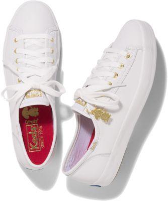 Keds Kickstart Year Of The Dog White, Size 5m Women Inchess Shoes