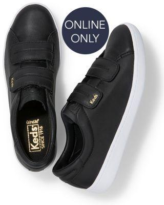 Keds Ace V Leather Black, Size 6m Women Inchess Shoes