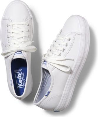 Keds Triple Kick Leather White, Size 5m Women Inchess Shoes
